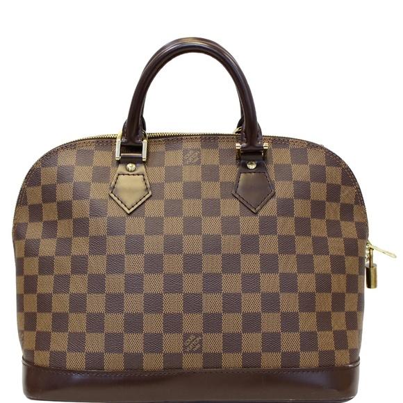 Louis Vuitton Handbags - LOUIS VUITTON ALMA DAMIER EBENE SATCHEL BAG BROWN